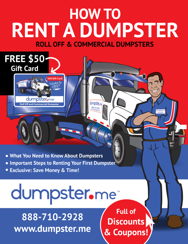 Free Ebook - How to Rent a Dumpster - Dumpster.me