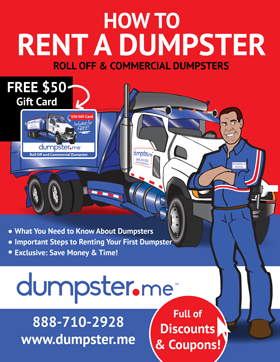 Free eBook - How to Rent a Dumpster – Dumpster, Residential Roll Off Dumpster, Front Load Equipment, Commercial Dumpster
